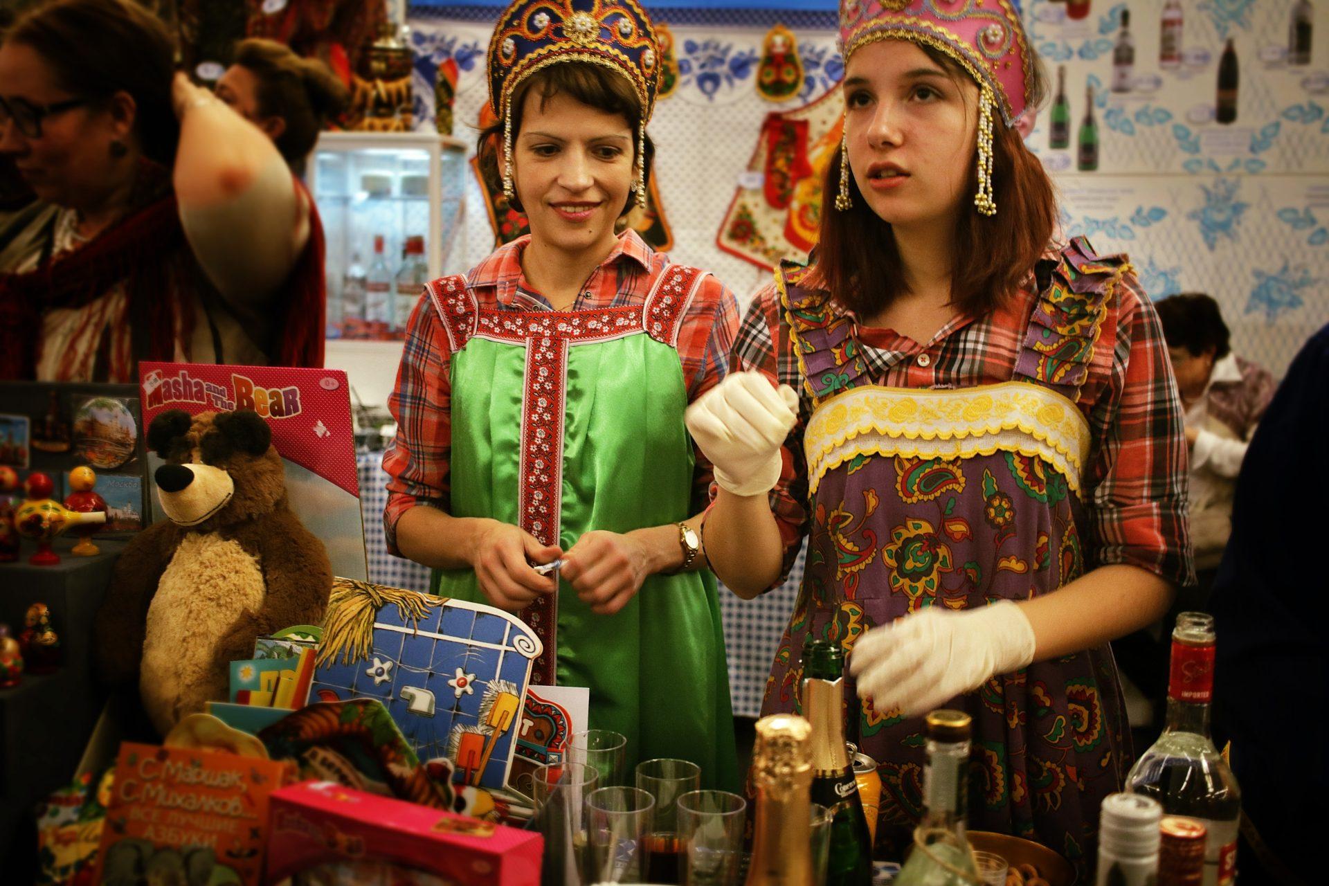 folk market scene